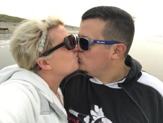 Kissing on the Oregon Coast