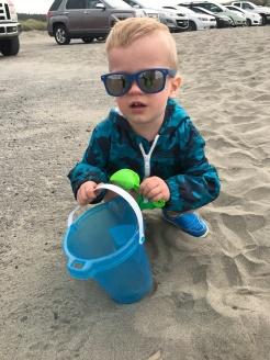 My son at the Oregon Coast
