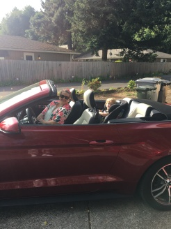 Rented a Ford Mustang for our drive to Winston on my birthday